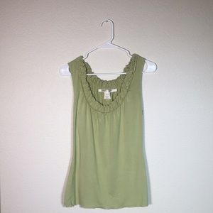 Max Studio lime green dressy shirt